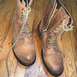 Steven Madden Rustic Brown Combat Boots